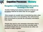 cognitive processes memory38
