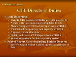 cte directors duties