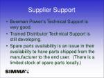 supplier support