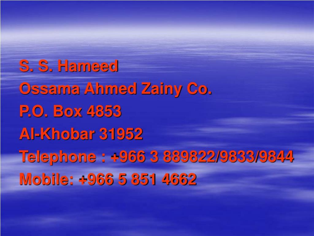 S. S. Hameed