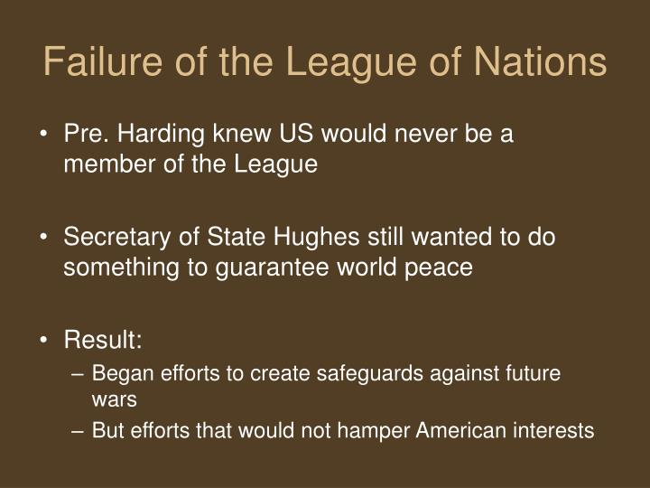 league of nations failure What is the main cause for failure of league of nations from stopping the outbreak of world warii.