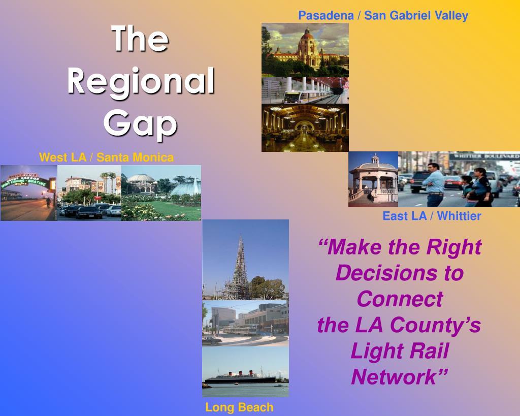 the regional gap l.