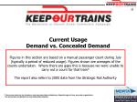 current usage demand vs concealed demand