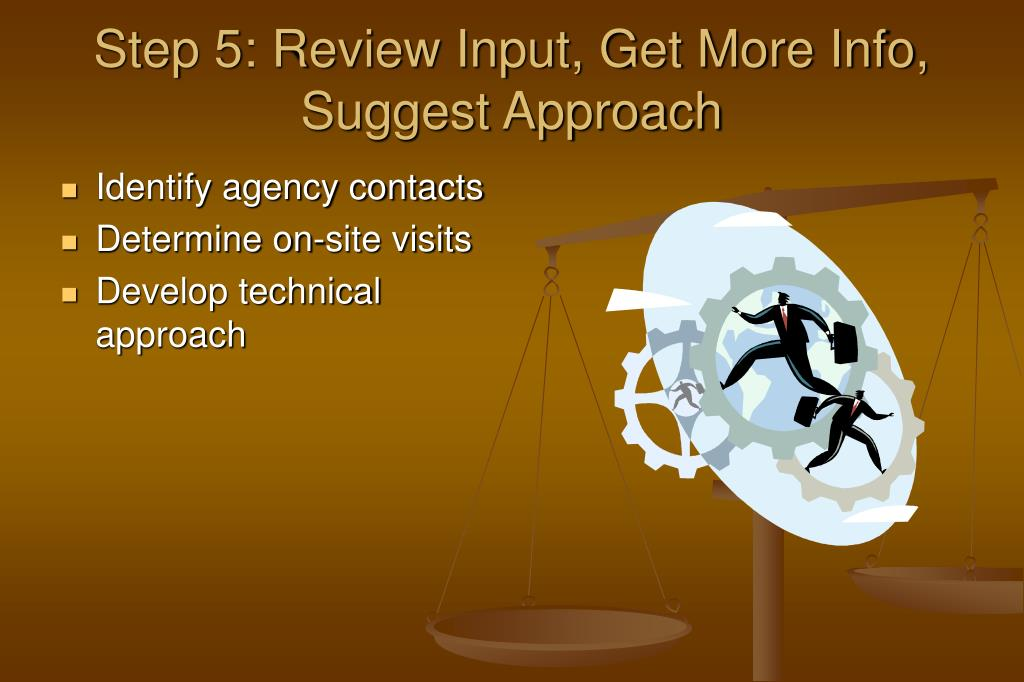 Step 5: Review Input, Get More Info, Suggest Approach