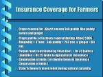 insurance coverage for farmers