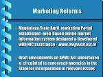 marketing reforms