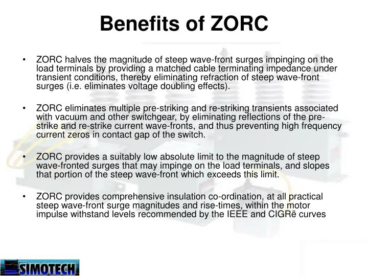Benefits of ZORC
