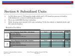 section 8 subsidized units