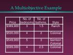 a multiobjective example5