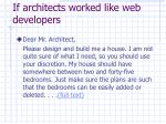if architects worked like web developers