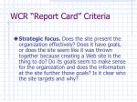 wcr report card criteria