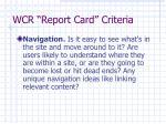 wcr report card criteria9