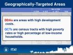 geographically targeted areas