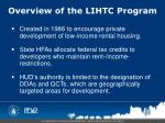 overview of the lihtc program