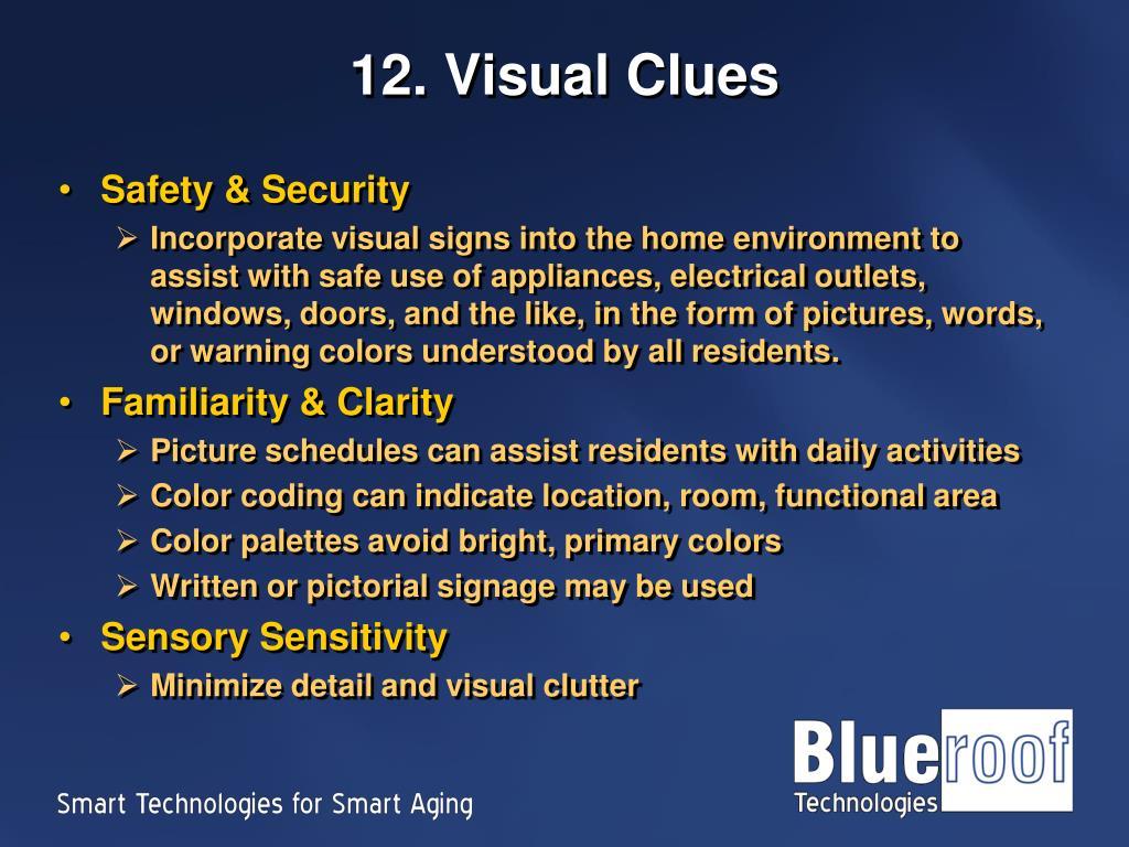 12. Visual Clues