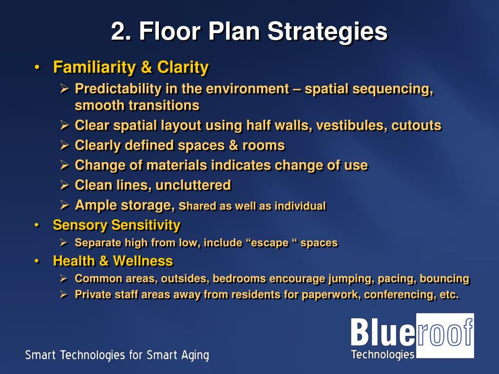 2. Floor Plan Strategies