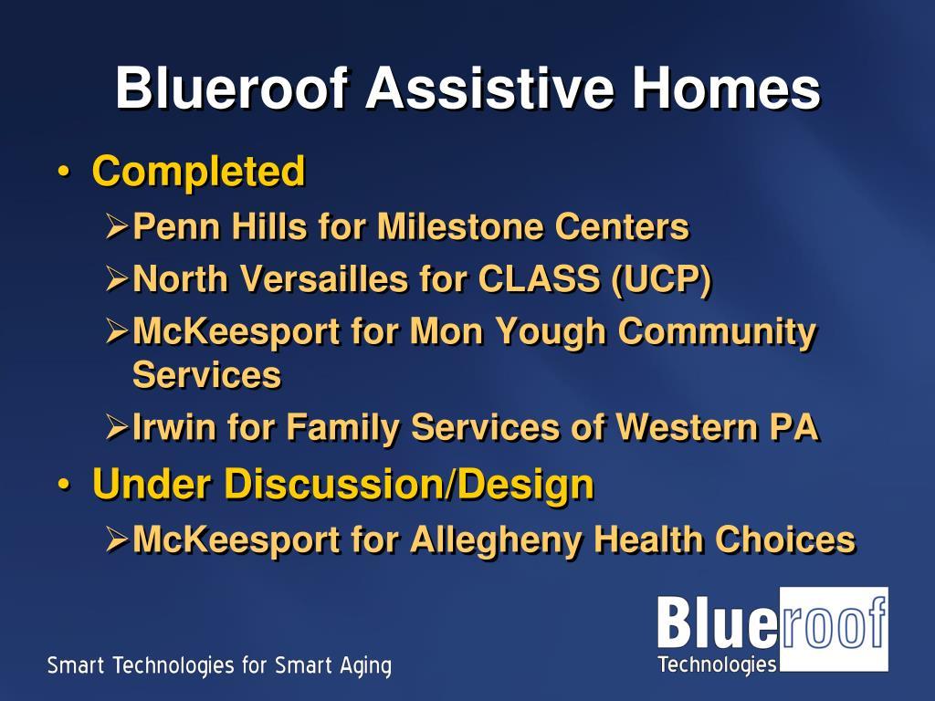 Blueroof Assistive Homes