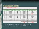 calculation cont