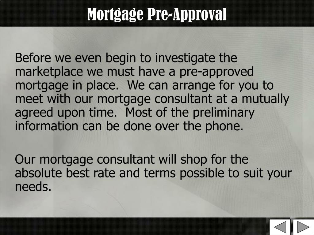 Mortgage Pre-Approval