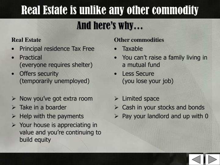 Real estate is unlike any other commodity and here s why