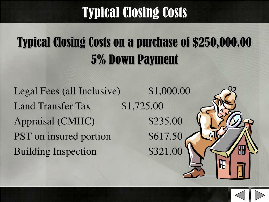 Typical Closing Costs