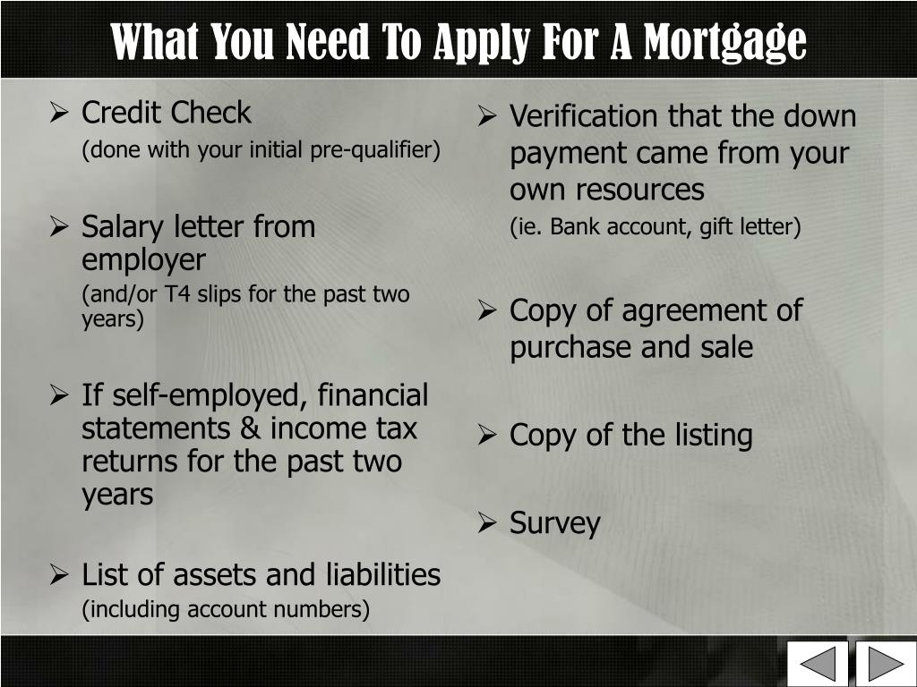 What You Need To Apply For A Mortgage