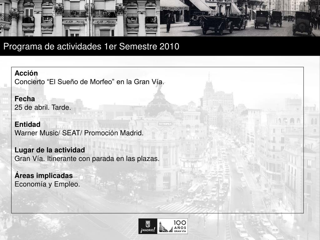 Programa de actividades 1er Semestre 2010
