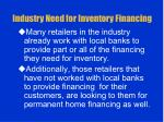industry need for inventory financing7
