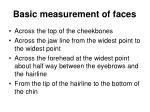 basic measurement of faces