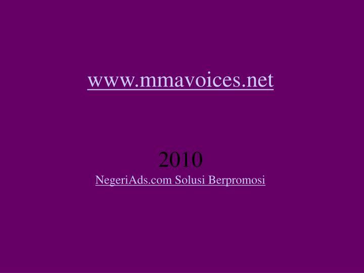 Www mmavoices net 2010 negeriads com solusi berpromosi