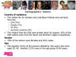 demographics visitors