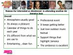 reason for interested or disinterest in attending another air jamaica jazz1