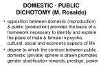 domestic public dichotomy m rosaldo