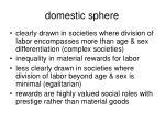 domestic sphere