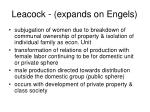 leacock expands on engels