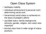 open class system