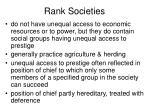 rank societies