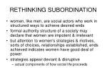 rethinking subordination1