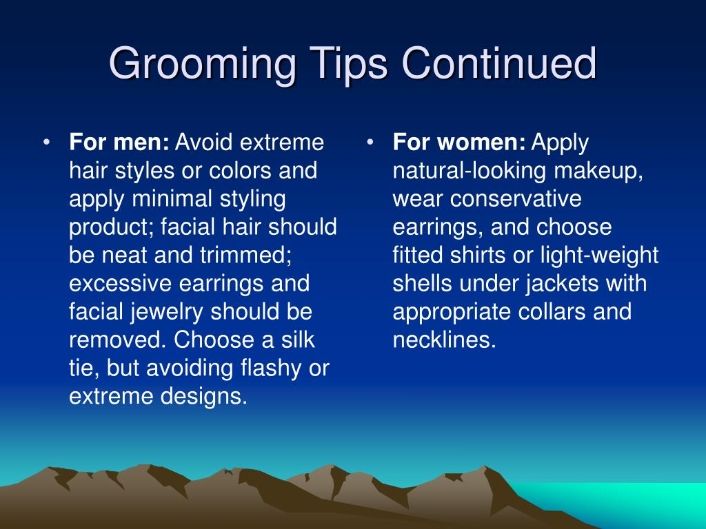 For men: