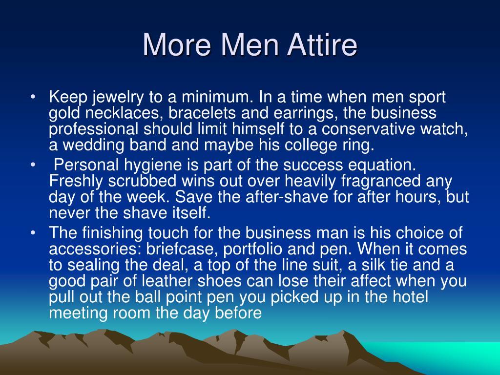 More Men Attire