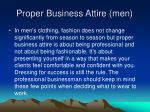 proper business attire men