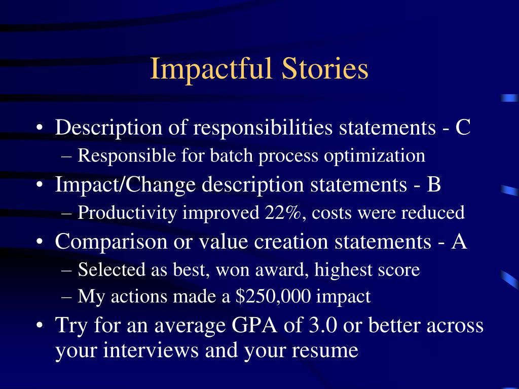 Impactful Stories