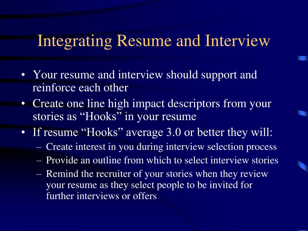 Integrating Resume and Interview