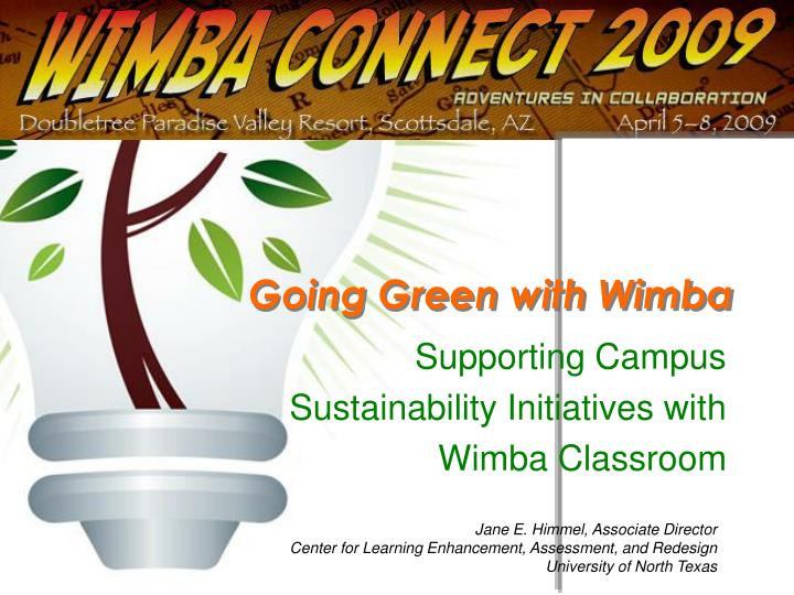 going green with wimba n.