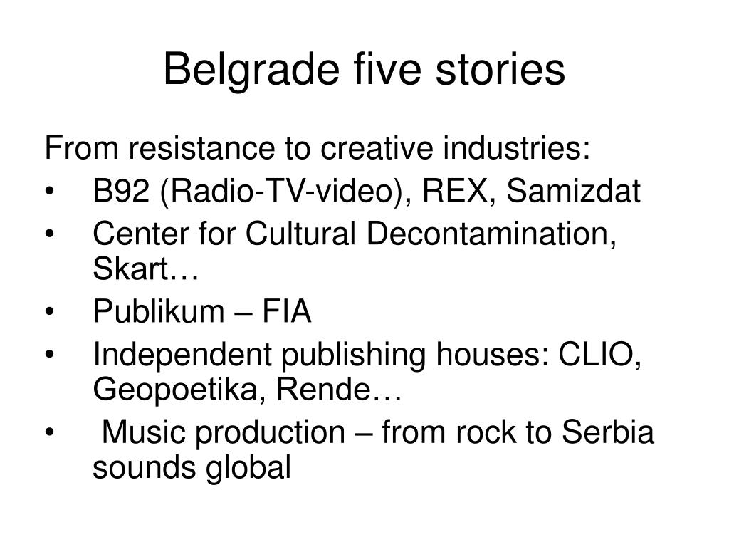 Belgrade five stories