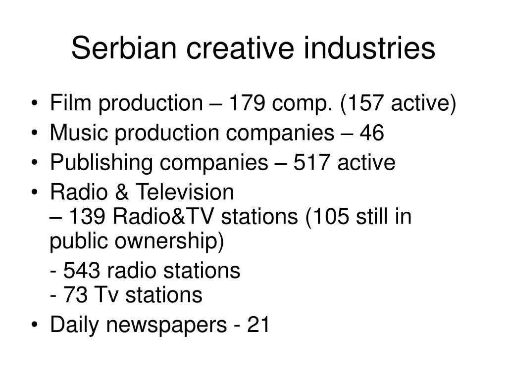 Serbian creative industries