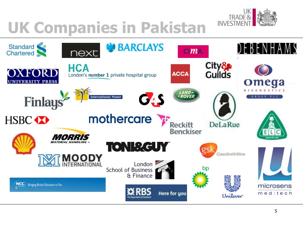 UK Companies in Pakistan