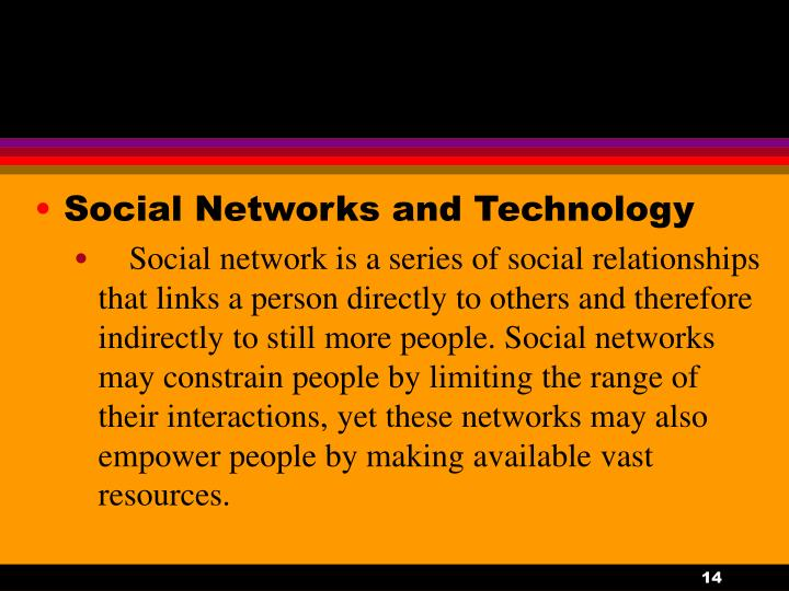 Social Networks and Technology
