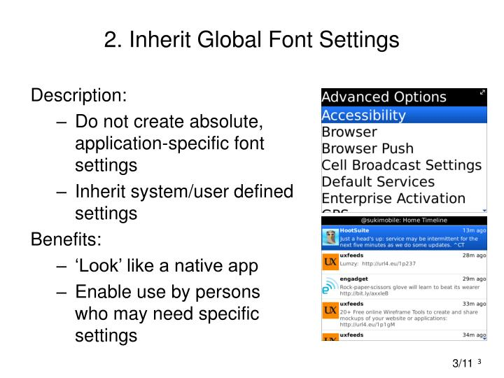 2 inherit global font settings