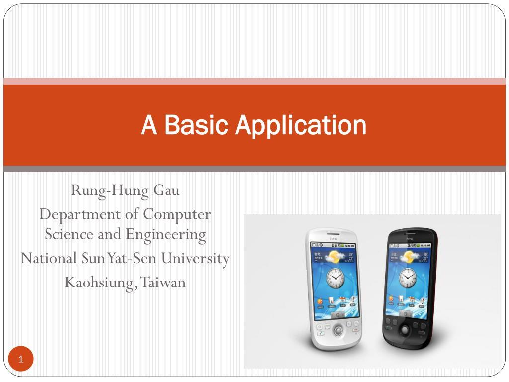 a basic application l.